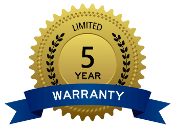5 Year Limited Warranty badge